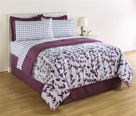 essential home 8 complete bed set vertical vines dots home bed bath bedding