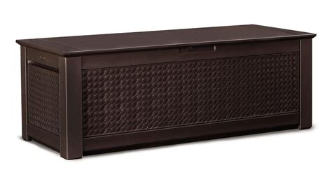 rubbermaid 1859951 outdoor deck box storage trunk wdark