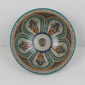 Bemalte Keramik Waschbecken : orientalisches handbemaltes keramik waschbecken fes1 bei ihrem orient shop casa moro ~ Markanthonyermac.com Haus und Dekorationen