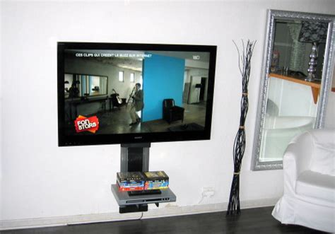 lcd plat sony 52 nx 800 accroch 233 au mur impressionnant antenniste installateur tv