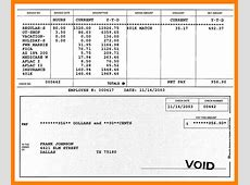 8+ fillable paycheck stub template Samples Of Paystubs