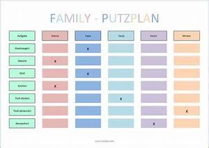 Wochenplan Haushalt Familie : putzplan f r die ganze familie haushaltsplan erstellen pinterest ~ Markanthonyermac.com Haus und Dekorationen