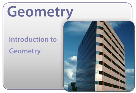 Introduction To Geometry Introduction