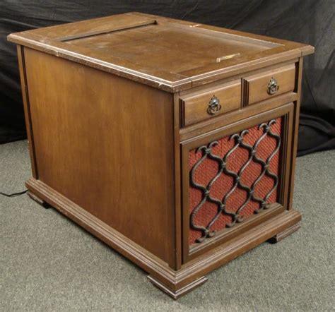 sylvania vintage hi fi radio record player wood cabinet
