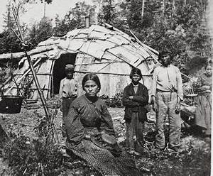Ojibwe family in front of their home, MHS Photograph ...