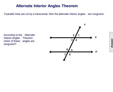 alternate interior angles theorem worksheet corresponding angles gabrieltoz worksheets for