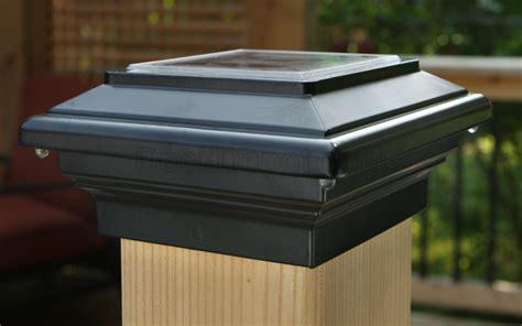 aries solar post cap light by deck lighting