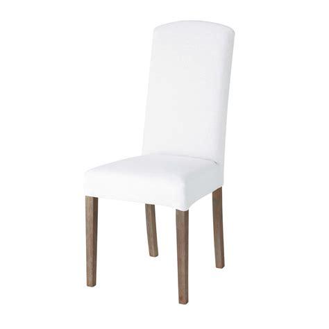 housse de chaise en blanche maisons du monde