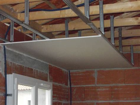 faire un plafond en ba13 maison travaux