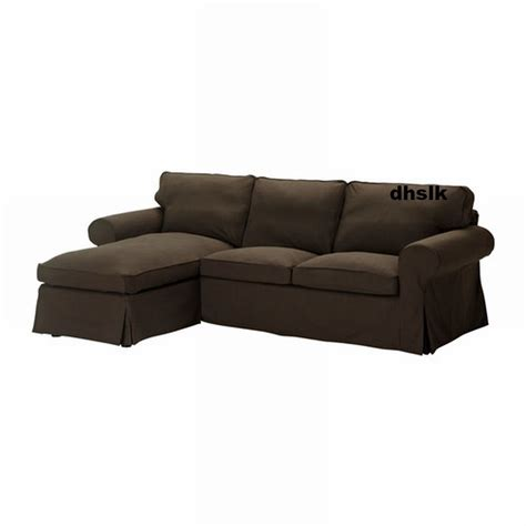 ikea ektorp loveseat with chaise cover slipcover svanby brown linen blend