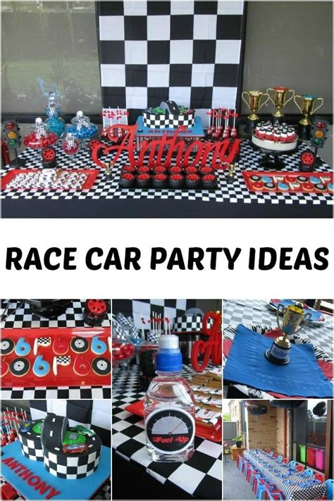 Race Car Themed 6th Birthday Party  Celebrations, Cars