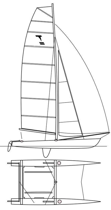 Catamaran Hull Dimensions by Tornado Sailboat Wikipedia