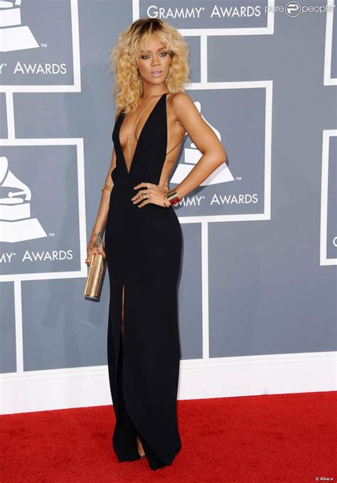 rihanna sur le tapis de la 54e soir 233 e des grammy awards le 12 f 233 vrier 2012 au staples