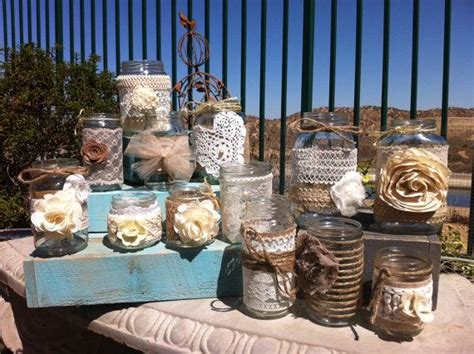 Burlap Lace Mason Jars. Bulk Mason Jar Centerpieces. Head Costco Baby Shower Invitations Meatballs Fall Cake Ideas Centerpieces Girl Decorations Pink And Green Fun Games Gray What To Bring For