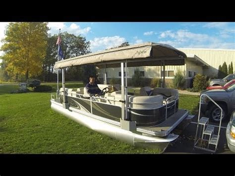 Pontoon Boat Hard Top Cover by Blue Water Power Top 2014 Youtube