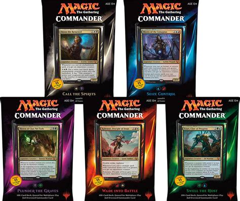 mtg 2015 commander set of all 5 decks hill s wholesale gaming