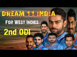 West indies vs India 2nd ODI Best Dream 11 India | playing ...