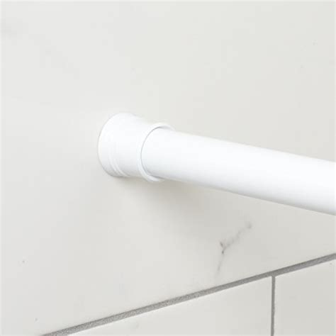 zenna home 505w tension shower curtain rod 44 to 72 inch white new ebay