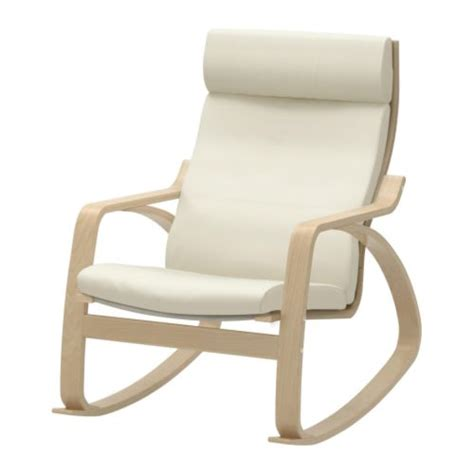 po 196 ng rocking chair birch veneer glose eggshell ikea