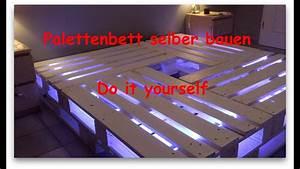 Palettenbett Selber Bauen : palettenbett selber bauen youtube ~ Markanthonyermac.com Haus und Dekorationen