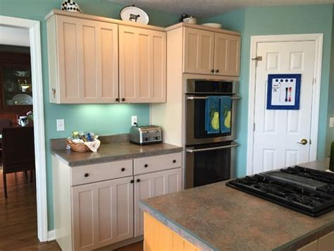 help color scheme with pickled cabinets