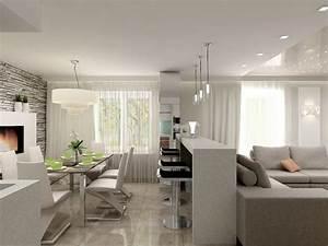 Küche Mit Wohnzimmer : wohnzimmer essbereich k che in einem beispiel einrichtung neue wohnung altersgerecht ~ Markanthonyermac.com Haus und Dekorationen