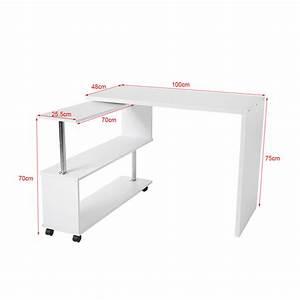 Tisch Mit Rädern : computertisch pc tisch arbeitstisch eckschreibtisch mit rollen 360 drehbar cr 9 ebay ~ Markanthonyermac.com Haus und Dekorationen