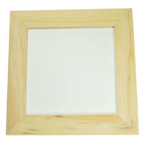cadre en bois 224 peindre cadre photo en bois brut naturel 224 d 233 corer soi m 234 me 12x12cm