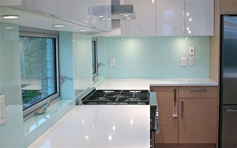 Solid Glass Kitchen Backsplash Production And Installation