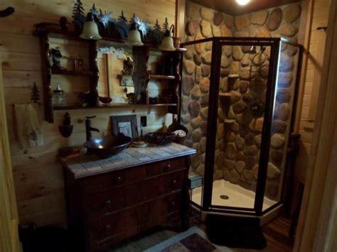 Rustic Cabin Bathroom Decor Ideas Rustic Cabin