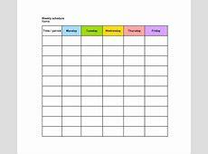 One Week Calendar Template Excel Download Blank Weekly
