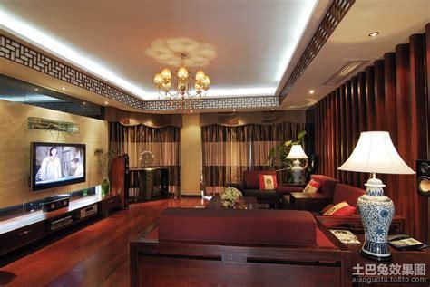 新中式客厅装饰吊顶_土巴兔装修效果图