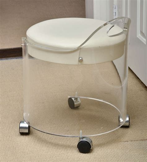 vintage lucite vanity stool by charles hollis jones at 1stdibs