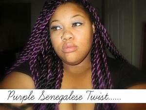 Purple Senegalese Twist | Show & Tell : - YouTube