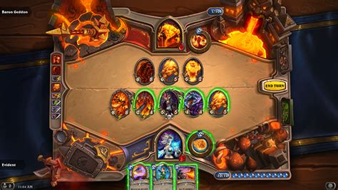 evident s heroic baron geddon mage hearthstone top decks