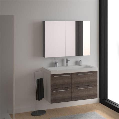 meuble de salle de bains remix blanc 106x48 5 cm 4 tiroirs leroy merlin