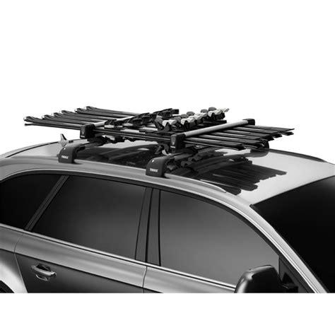 porte skis sur barres de toit thule snowpack 7326 pour 6 paires de skis ou 3 snowboards norauto fr