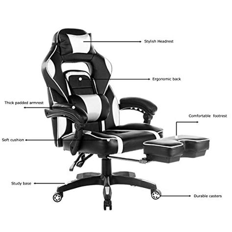 best ergonomic gaming recliners with a footrest for 2017