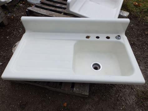 antique cast iron porcelain 42 quot kitchen farm sink