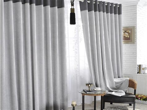 Home Curtain : Cool Grey And White Blackout Curtains & Gray