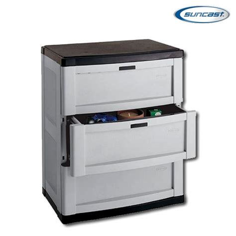 Suncast Storage Cabinet by Suncast C3703g 3 Drawer Base Cabinet