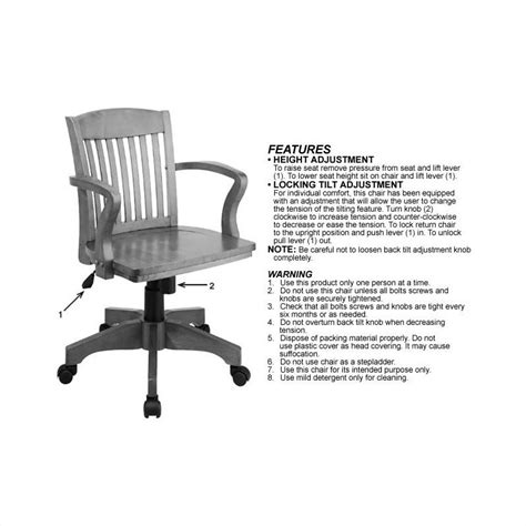 Armless Wood Bankers Chair by Armless Wood Bankers Office Chair With Wood Seat In Medium