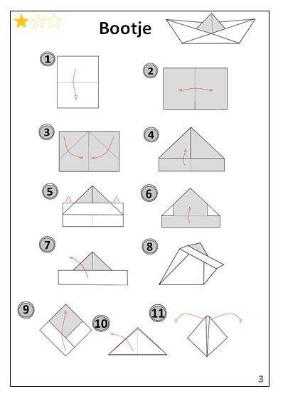 Bootje Vouwen Uit Papier by Bootje Origami Vouwen Jouwweb Be Vll Kern 7