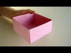 Geschenkschachtel Mit Deckel : schachtel falten kisten basteln mit papier geschenkbox selber machen youtube ~ Markanthonyermac.com Haus und Dekorationen