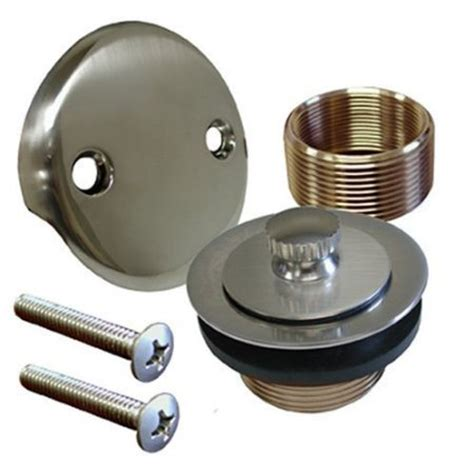 bathtub drain assembly replacement brushed nickel conversion kit bathtub tub drain assembly