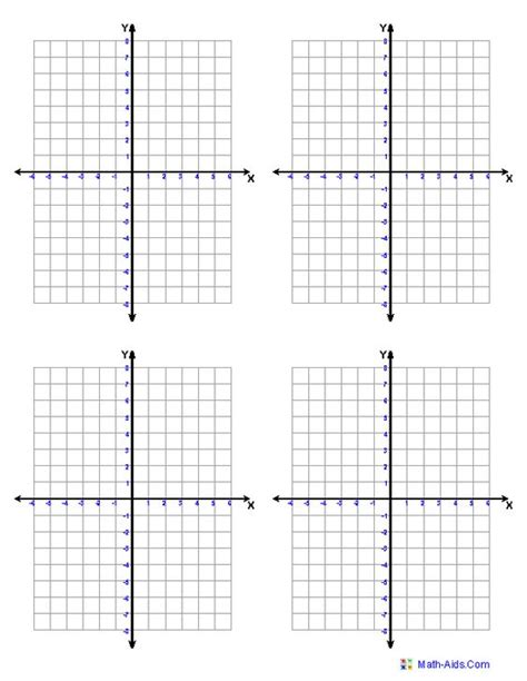 Graph Paper  Printable Math Graph Paper (free Printable Coordinate Planes Adjust To Your