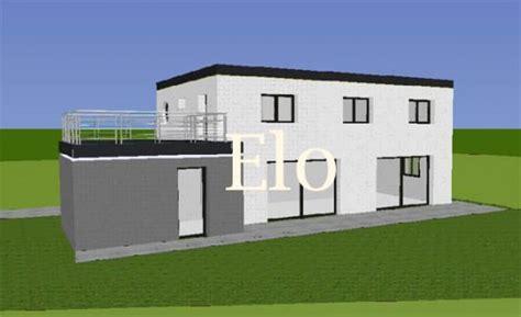 photo de maison contemporaine toit plat prix