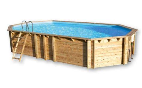 piscine bois weva octo 840 hors sol enterr 233 e ou semi enterr 233 e achat piscine en kit pas