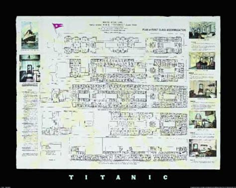 titanic deck plans poster