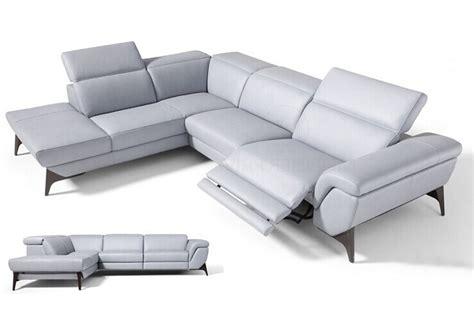 canap 233 d angle fonction relax en cuir italien 5 places conforto blanc mobilier priv 233